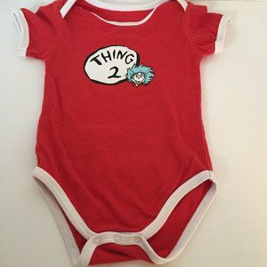 Dr. Seuss Thing 2 One Piece Size 6 Months